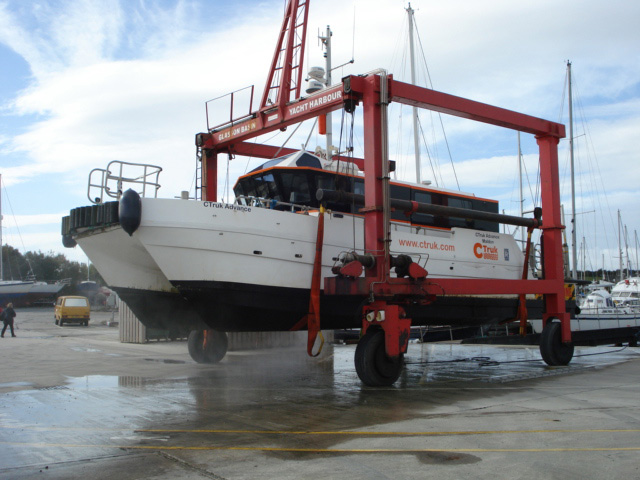 Glasson boat lifting
